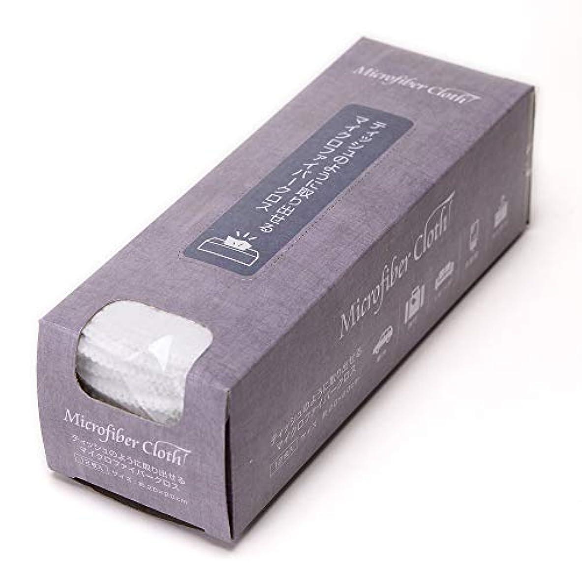 ナインへ高める原点ストリックスデザイン マイクロファイバークロス ティッシュのように取り出せるクロス 12枚組 ホワイト 白 約20×20cm 箱入り ふきん 雑巾 お掃除 吸水 速乾 SB-063