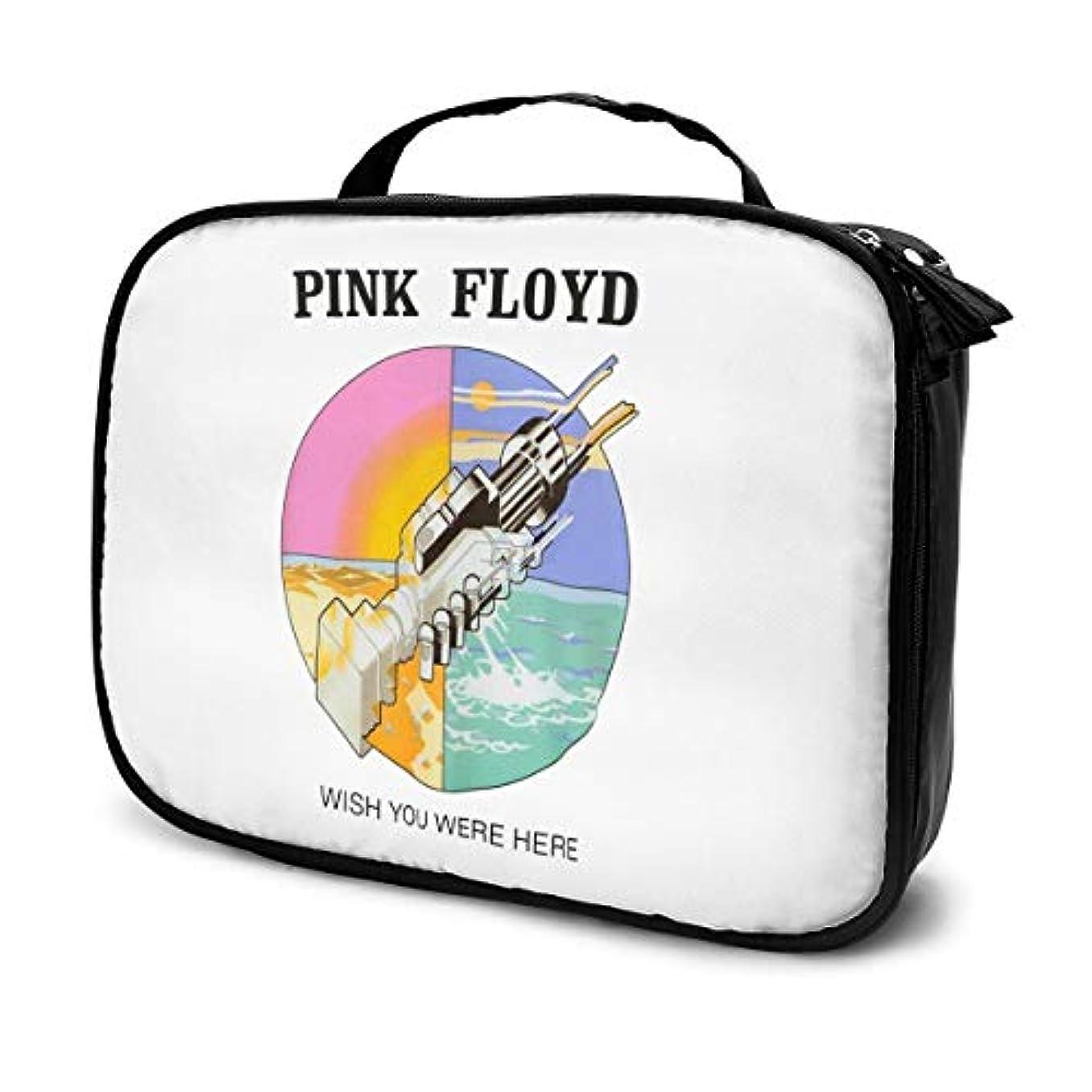 趣味後ろ、背後、背面(部ライムピンク?フロイド Pink Floyd 化粧ポーチ 化粧ケース メイクアップケース コスメポーチ メイクポーチ 機能的 大容量 乾式/湿式分離 吊り下げ 防水 収納力抜群 海外旅行 出張 軽量 化粧品収納 小物入れ 普段使い 持ち運び 人気 メンズ レディース 男女兼用