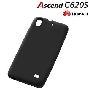 レイ・アウト HUAWEI Ascend G620S ケース シルキータッチ・シリコンジャケット ブラック RT-AG620SC1/B
