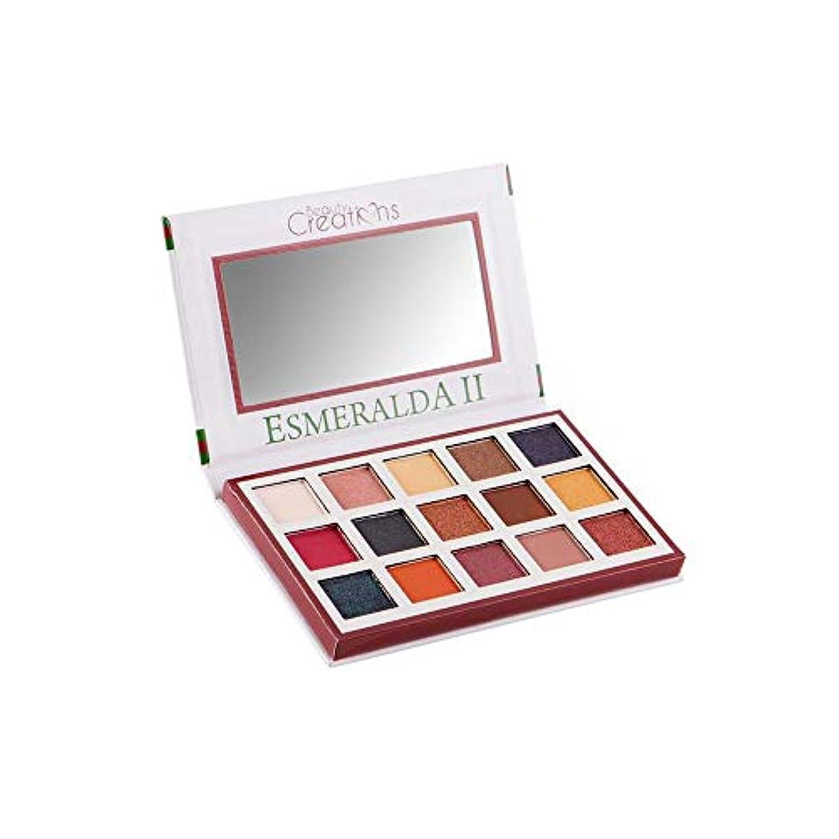 実証するジュラシックパークフレキシブルBEAUTY CREATIONS Esmeralda II 15 Color Eyeshadow Palette (並行輸入品)