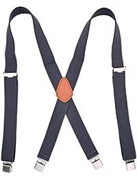 YiyiLai X型 サスペンダー メンズ 調節可能 ビジネス レディース 吊りバンド 幅3.5cm