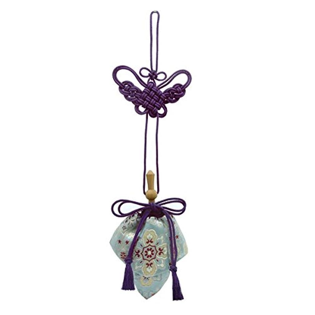 セクションシリンダー中で訶梨勒 極品 桐箱入 花紋 (紫紐)