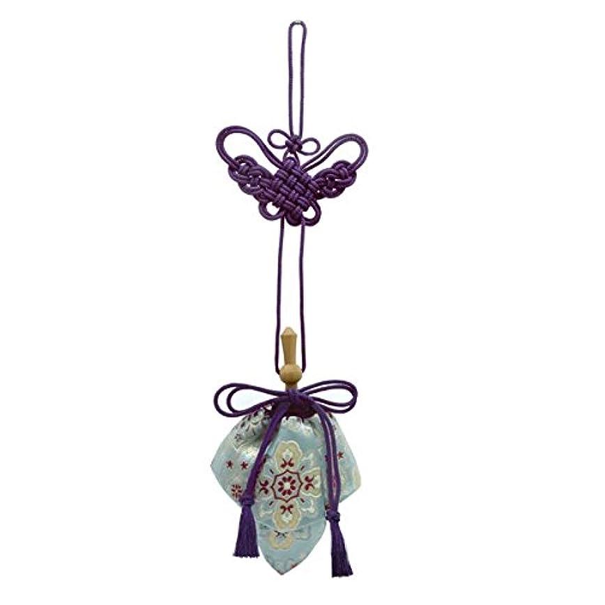 しなやか背の高い休日に訶梨勒 極品 桐箱入 花紋 (紫紐)