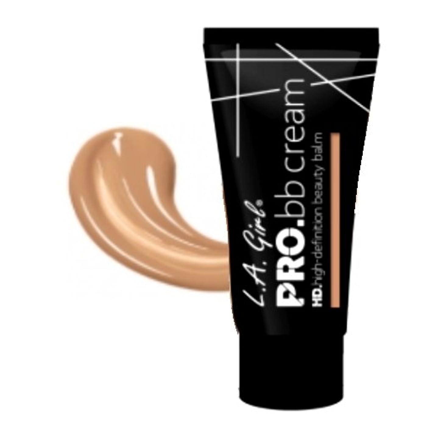 幼児ドレスボイコット(3 Pack) LA GIRL HD Pro BB Cream - Light Medium (並行輸入品)