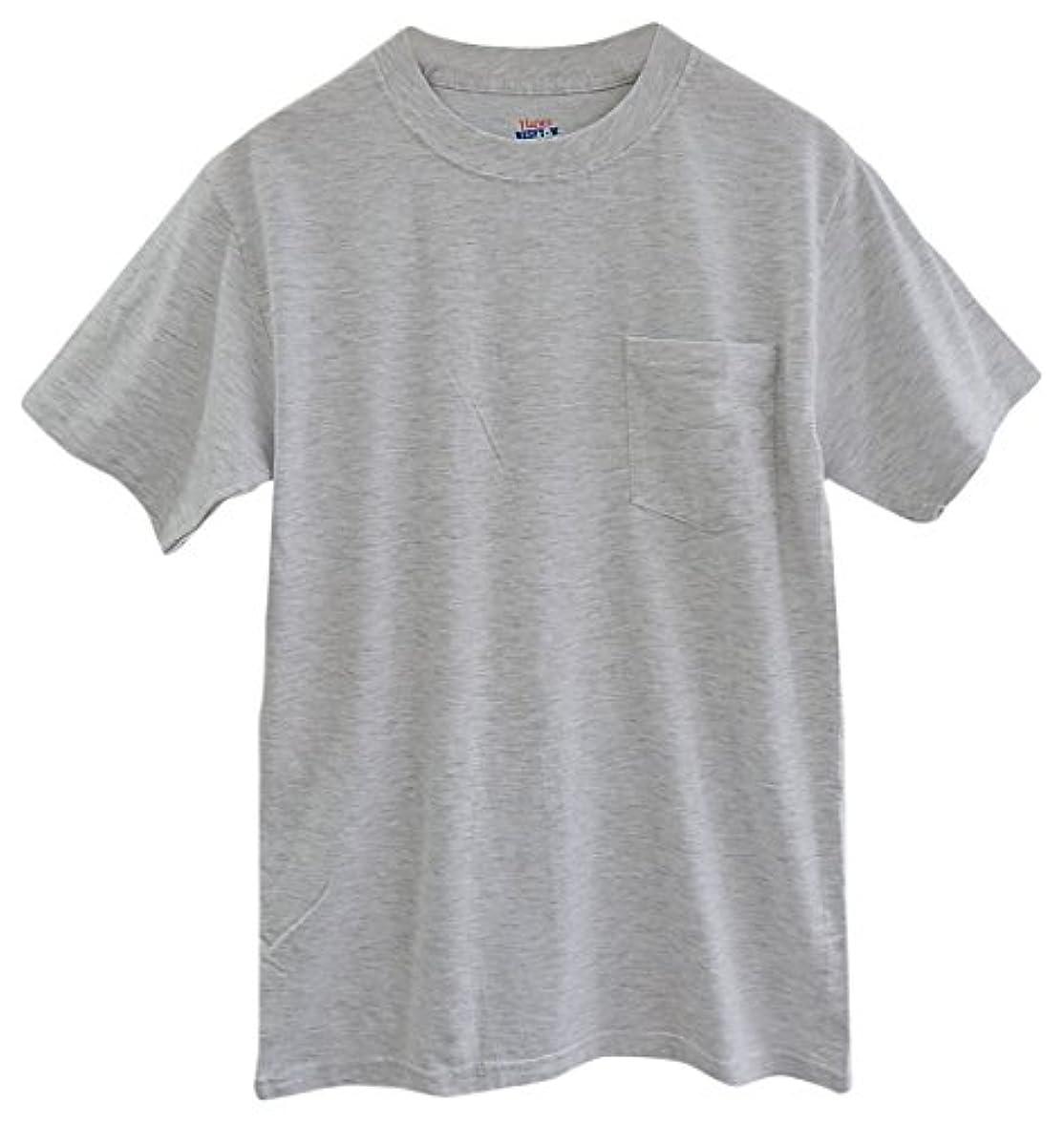 全体バンジージャンプ蜂(ヘインズ) HANES BEEFY TEE POCKET ヘインズ メンズ ポケットTシャツ 5190p ビーフィー [並行輸入品] (XL, アッシュ)
