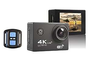 DMYTC F60R アクションカメラ 4k 30m防水 170度広角レンズ リモコン付き 保護バック搭載 スポーツカメラ