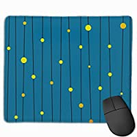 円和線 青 マウスパッド ゲーミング ゲームオフィス 高級感 おしゃれ 防水 耐久性が良い 滑り止めゴム底 適用 マウスの精密度を上がる