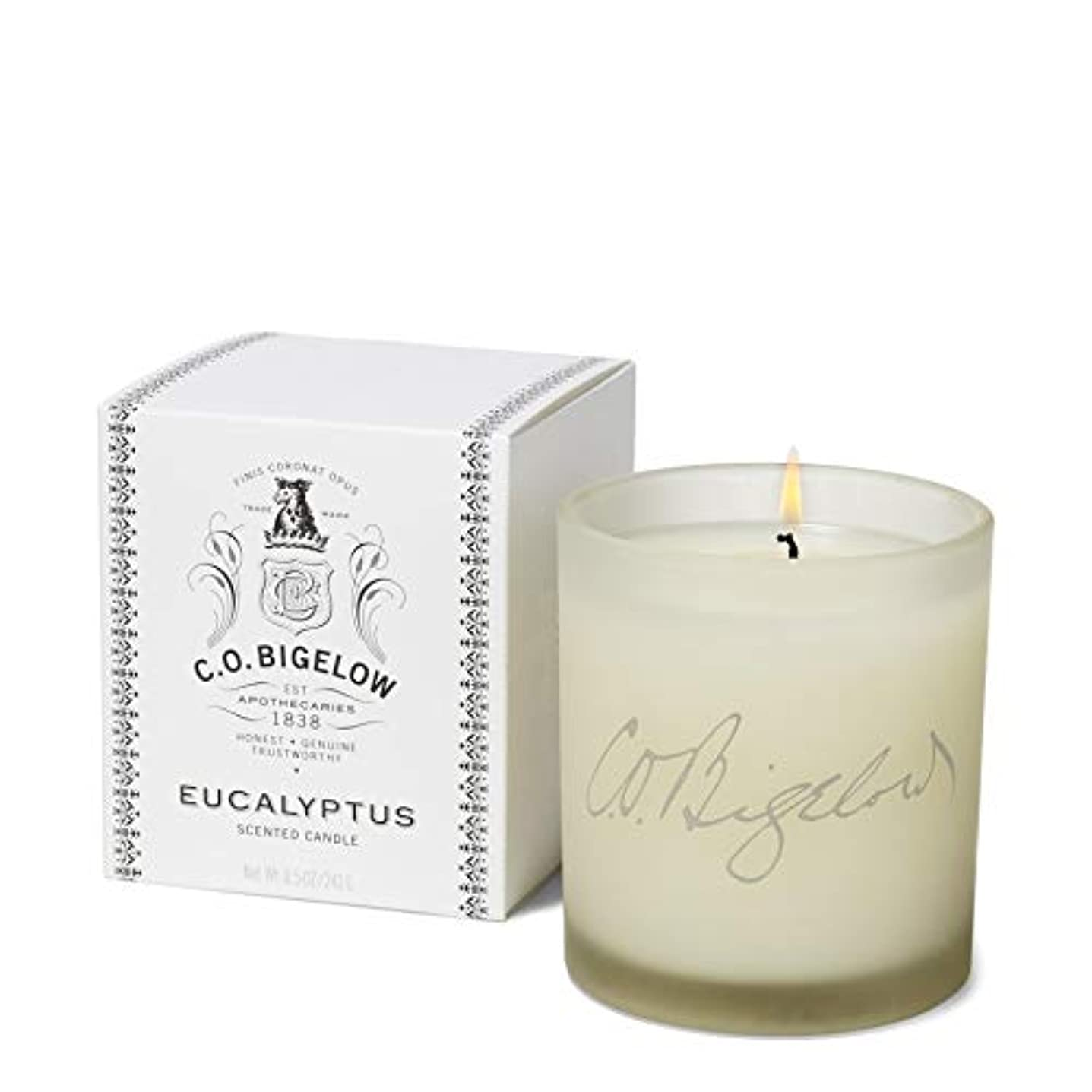 親指飛び込む野心的[C.O. Bigelow] C.O.ビゲローユーカリの香りのキャンドル - C.O. Bigelow Eucalyptus Scented Candle [並行輸入品]
