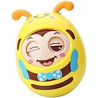 TNGCHI カートゥーン ベビー タンブラー おもちゃ ガラガラ おもちゃ 手持ち ウィンキングトイ ベル 新生児 幼児 教育 歯のおもちゃ ランダムな配送 1個