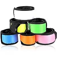 Esonstyle LED リストバンド 光る アームバンド 点滅調整可能 反射素材 夜間ランニング/散歩用 カラフル 全6色6本セット