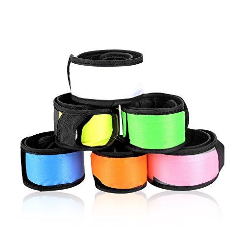 Esonstyle 全6色6本セット LED リストバンド 光る アームバンド 点滅調整可能 反射素材 夜間ランニング/散歩用 カラフル