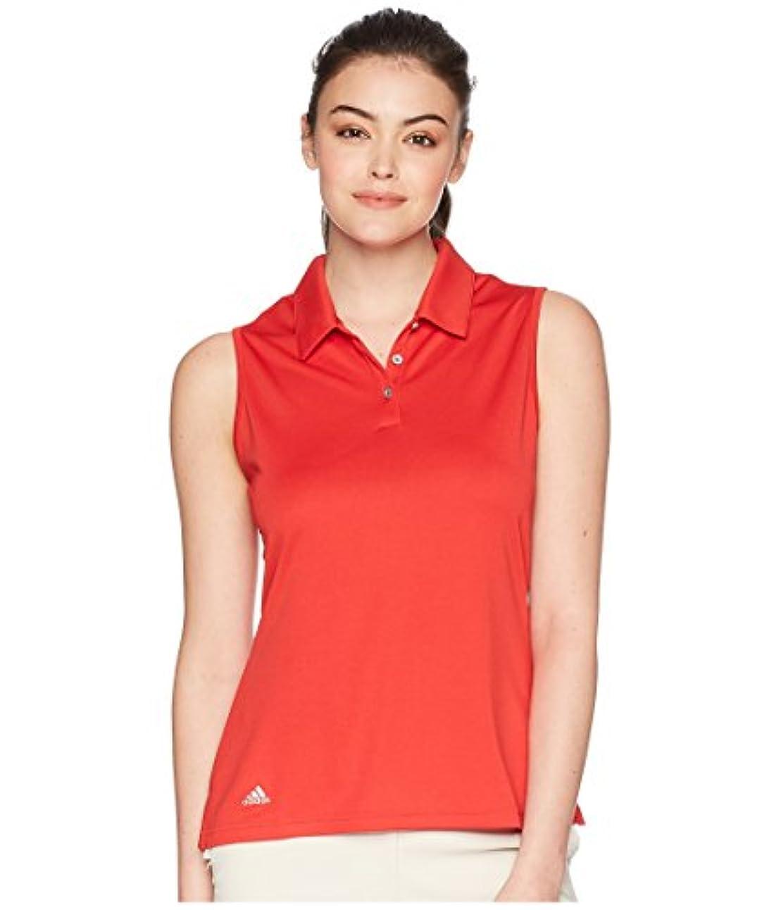 テラスレトルト予測する(アディダス) adidas レディースタンクトップ?Tシャツ Performance Sleeveless Polo Collegiate Red 2XL (2XL) One Size