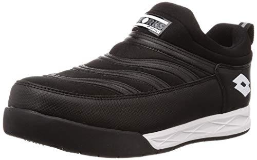 [ロットワークス] LW-S7004 JSAA A種認定 プロテクティブスニーカー 安全靴 作業靴 樹脂製先芯 4cm4時間防水 幅広(EEE) メンズ ブラック 25.5 cm 3E