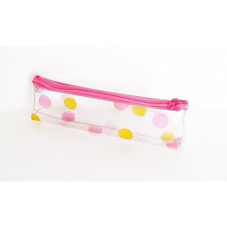 最終的に鰐ぬるいキャンディカラーポーチ S 水玉ピンク