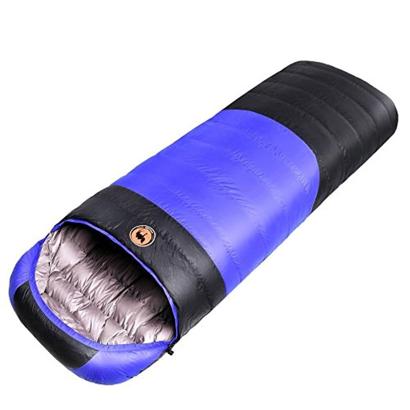 統計的拮抗計り知れないSAMCAMEL封筒型 ダウンシュラフ 寝袋 ポータブル 耐寒温度 -30℃ プロなシングルシュラフ