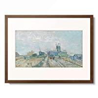フィンセント・ファン・ゴッホ Vincent Willem van Gogh 「Montmartre: Windmills and Allotments」 額装アート作品