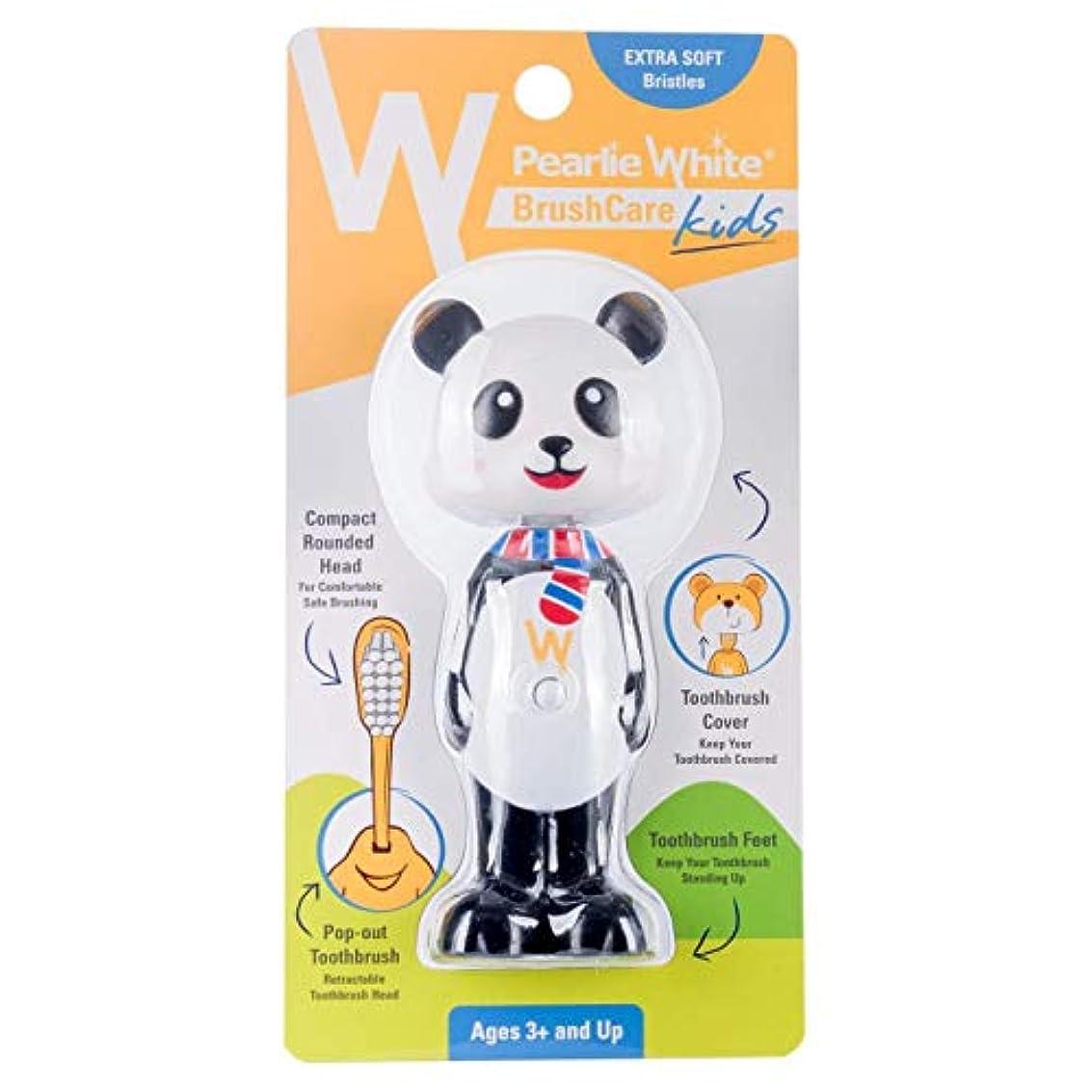 肌寒い湿気の多い返済Pearlie White(パーリーホワイト) パーリーホワイト ブラシケア キッズ PANDA(パンダ) 1本