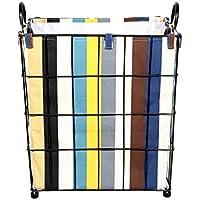 ZYH アイアンアート収納ボックス、バスルーム汚れた服バスケット服のおもちゃは丸い布を持っています大型収納バスケット30-45CM ストレージ (色 : E, サイズ さいず : 40 * 30 * 47CM)