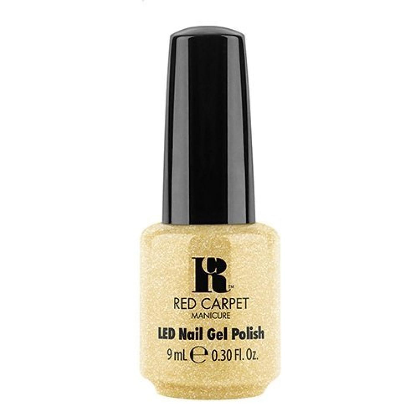一元化する実際の床を掃除するRed Carpet Manicure - LED Nail Gel Polish - Nice Nunchucks - 0.3oz / 9ml