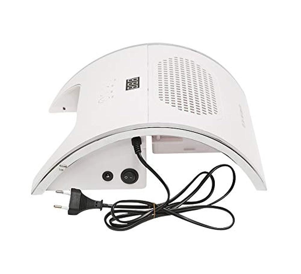 ボットシニスサンダル2 in 1マニキュア掃除機光線療法ランプネイルダスト吸引、コレクターファン強力なネイル掃除機プロフェッショナルネイルアートマニキュアマシン
