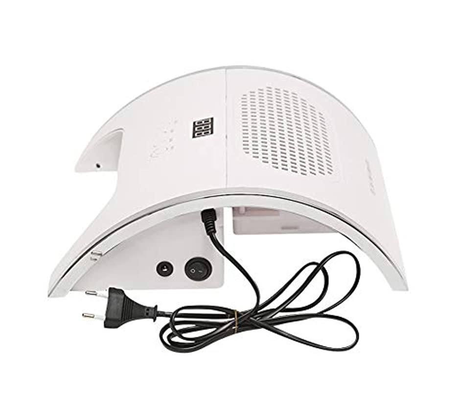 2 in 1マニキュア掃除機光線療法ランプネイルダスト吸引、コレクターファン強力なネイル掃除機プロフェッショナルネイルアートマニキュアマシン