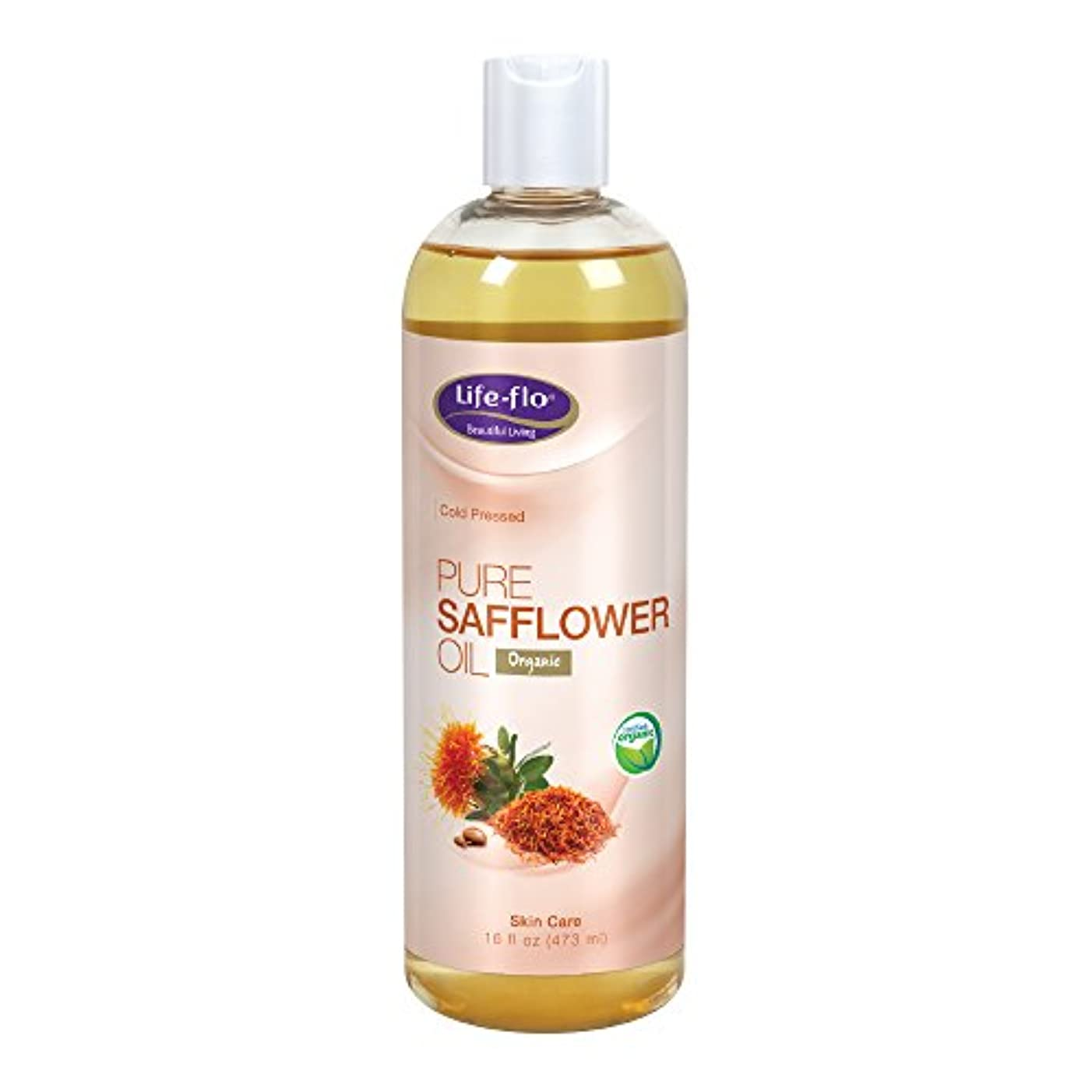 意味包帯連鎖Life Flo Health, Pure Safflower Oil, Skin Care, 16 fl oz (473 ml)