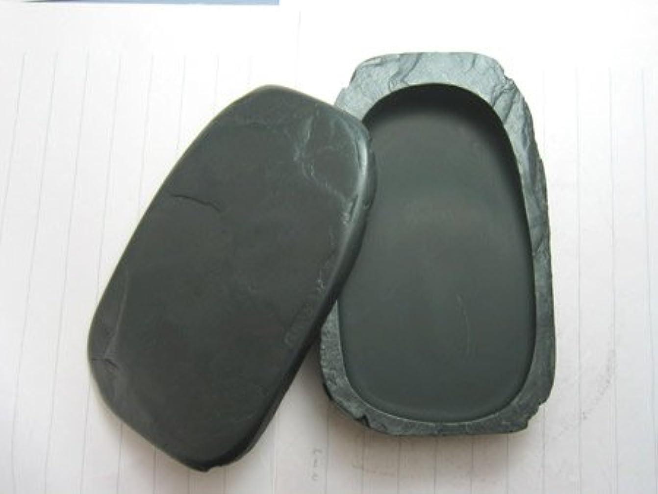 厳戻る有料硯 / 硯石 ふた付き 共蓋天然型 (五三寸) - 雄勝硯-