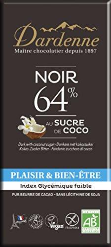 有機ココシュガーチョコ ダーク カカオ 64% 100g
