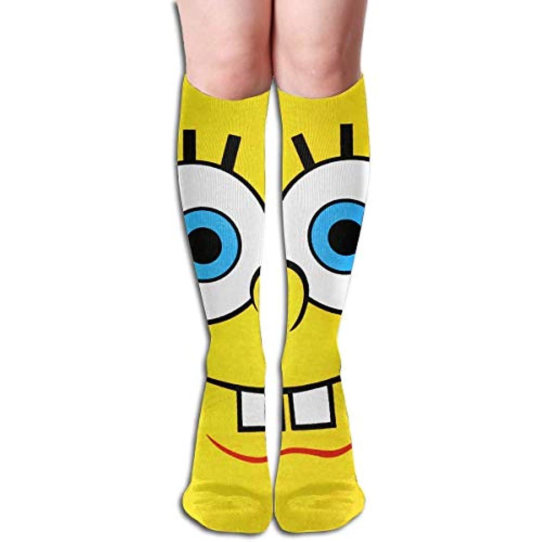 ファーザーファージュ対口実qrriy漫画スポンジボブチューブストッキングレディース冬暖かい膝ハイソックスブーツ靴下