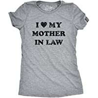 Womens I Love My Mother In Law Tshirt Funny Family Tee