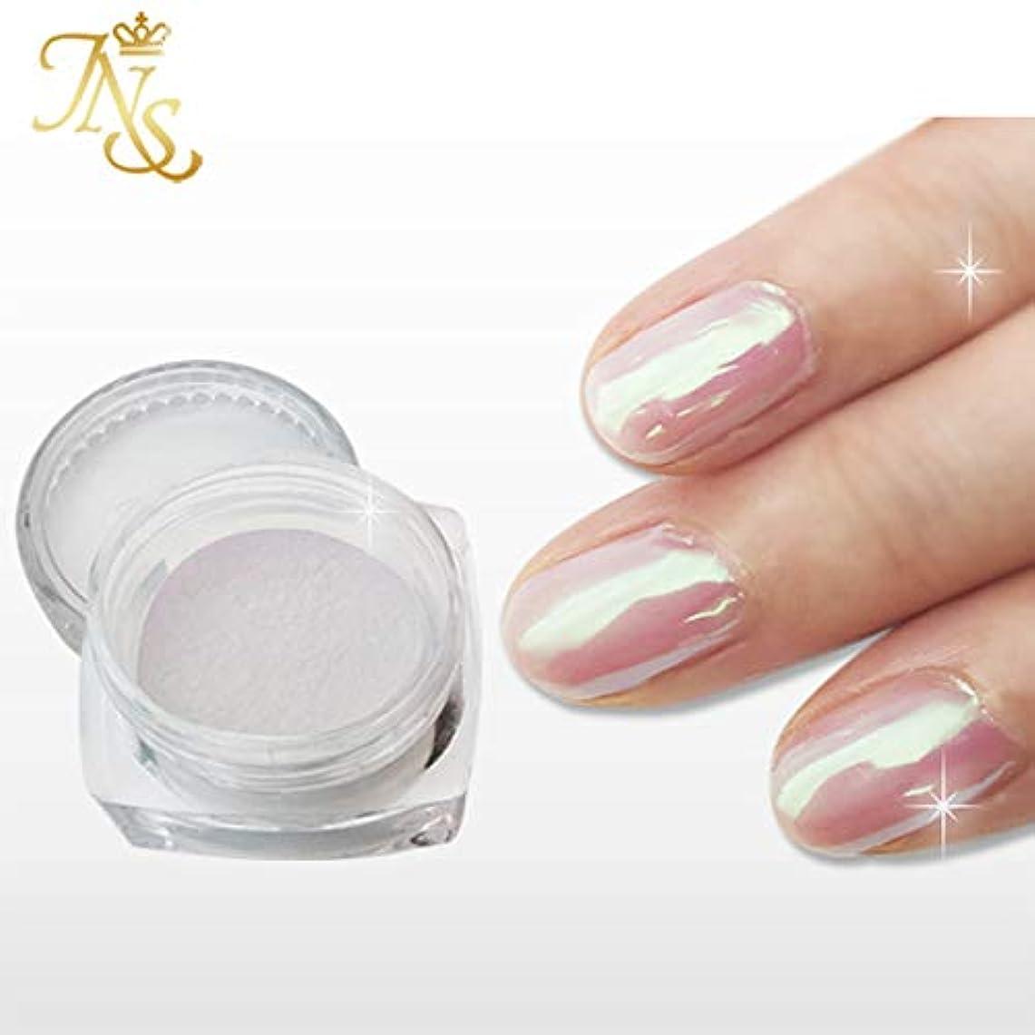 親指ピジン近代化ジャパンネイル オーロラシェルパウダー 白紫真珠