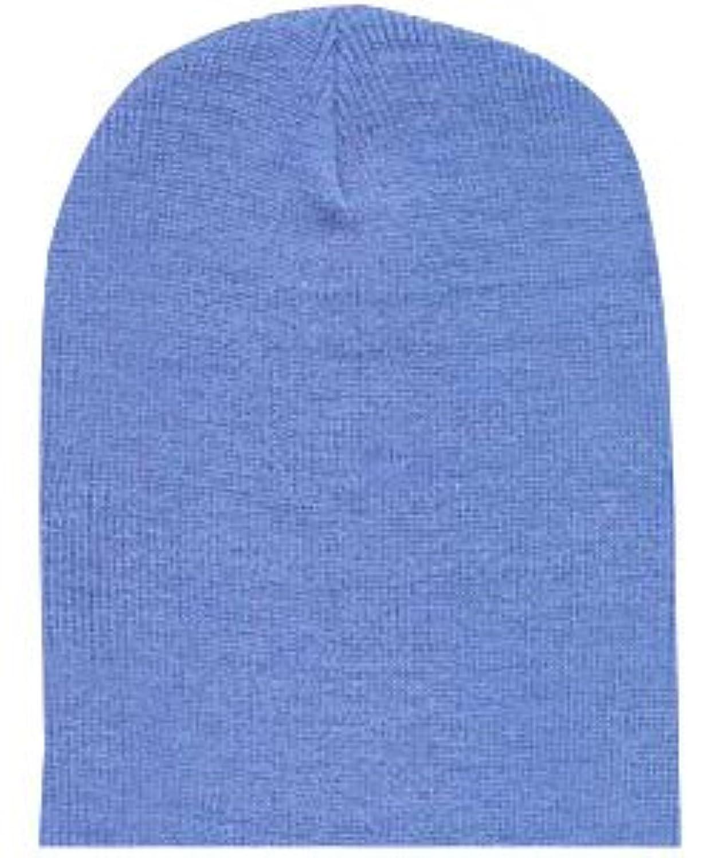 ショートニットキャップスキー帽子inライトブルー