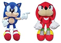 Great Eastern Sonic the Hedgehog Classic Sonic & Knuckles Plush (Set of 2)