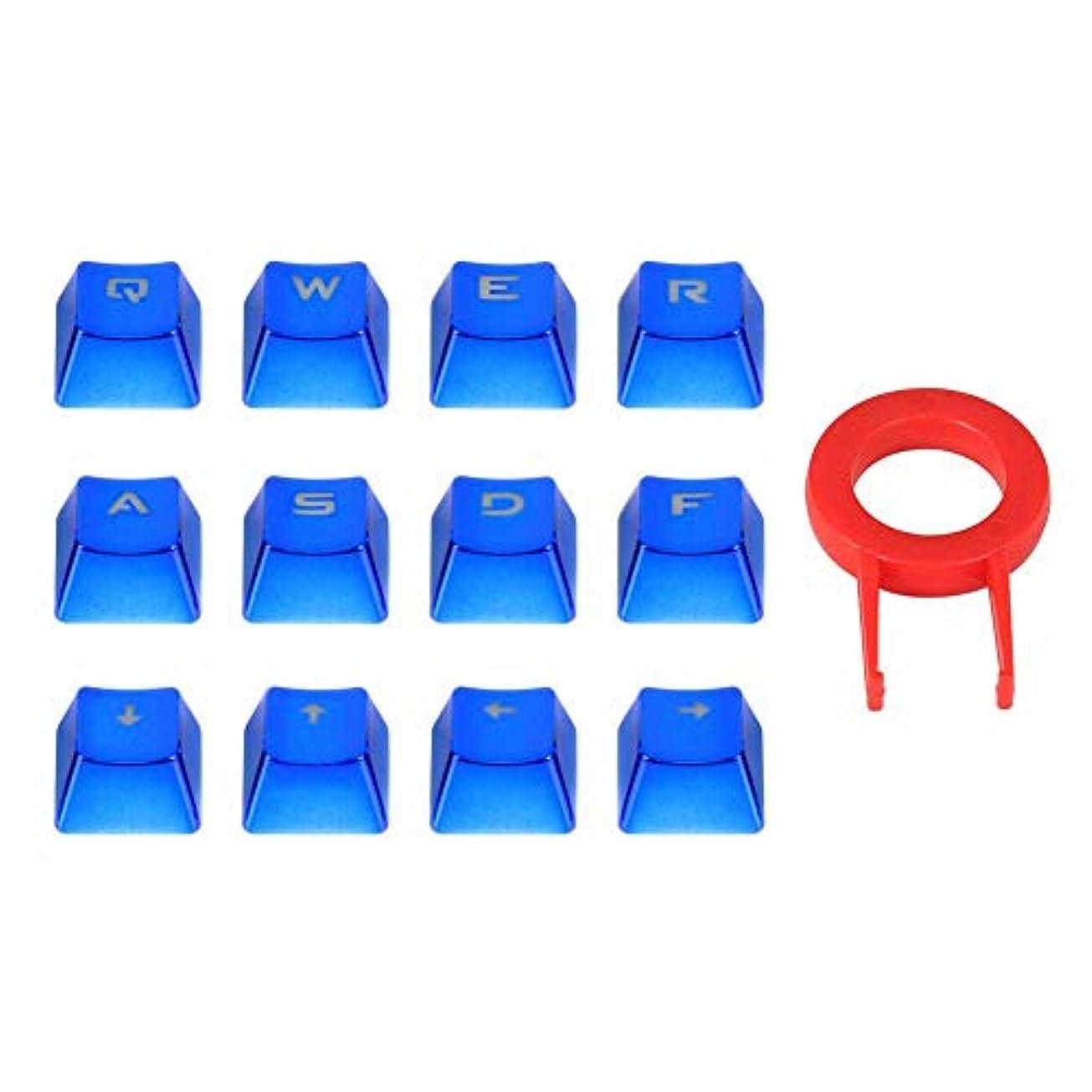 オン混合比類なきMacrorunjp キーキャップ Cherry MX軸メカニカルキーボード対応 防水 12キー バックライト メカニカルキーボード交換用 引抜工具付 ブルー