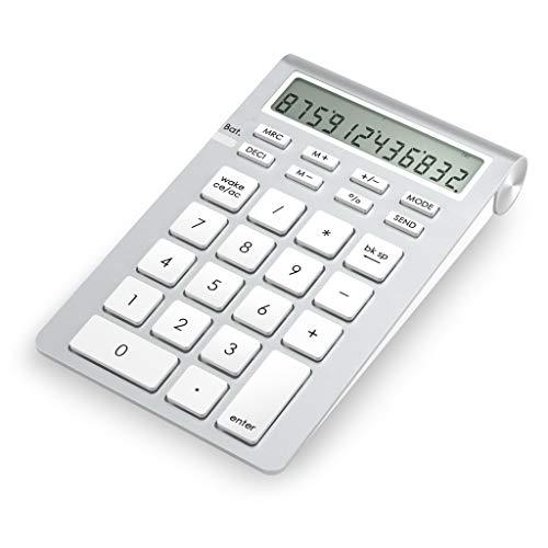 Cateckアルミ二ウム Bluetooth ワイヤレステンキー (電卓機能付) mac テンキー ワイヤレス10キー bluetoothテンキー 電卓