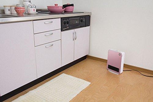 アイリスオーヤマ セラミックファンヒーター 人感センサー付き ピンク JCH-12D-P