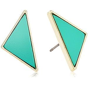 [ミルブラン] milleblanc 三角カラーレザーピアス TM48P2AN-212GR