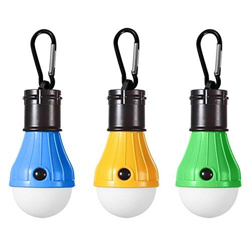 GreatCall LEDランタン キャンプライト テントライト 屋外 テント キャンプ ライト 釣り 防災 アウトドア用ライト 電球 ランタン 3LED 懐中電灯 釣り提灯 電池式 アウトドア用 (三個セット)