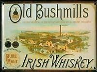 Bushmills Distillery メタルポストカード/ミニサインプレート (hi pcard)