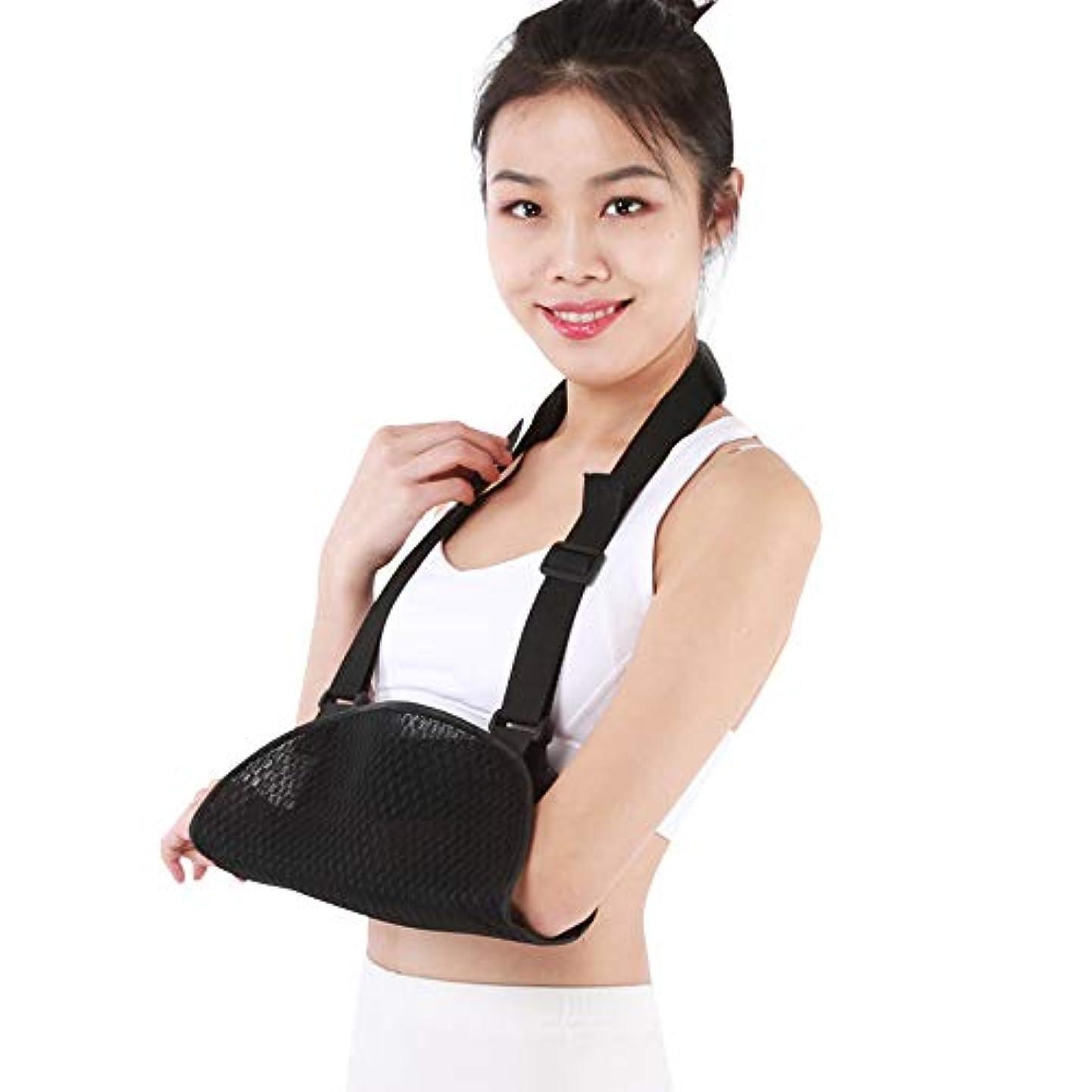 アセンブリブリードメッシュアームスリングメディカルサポートストラップ肩、腕、肘、男性と女性用の回旋腱板痛用の調整可能なスリングを備えた快適なイモビライザー