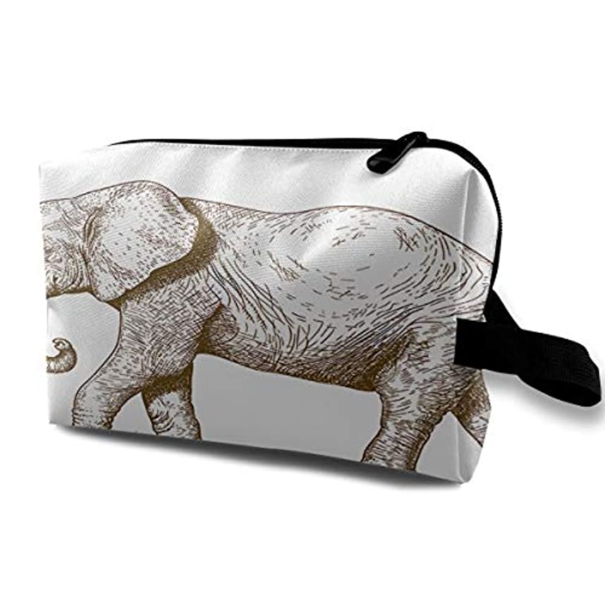 もっと少なくプラスチックカレッジAfrican Safari Animal 収納ポーチ 化粧ポーチ 大容量 軽量 耐久性 ハンドル付持ち運び便利。入れ 自宅?出張?旅行?アウトドア撮影などに対応。メンズ レディース トラベルグッズ