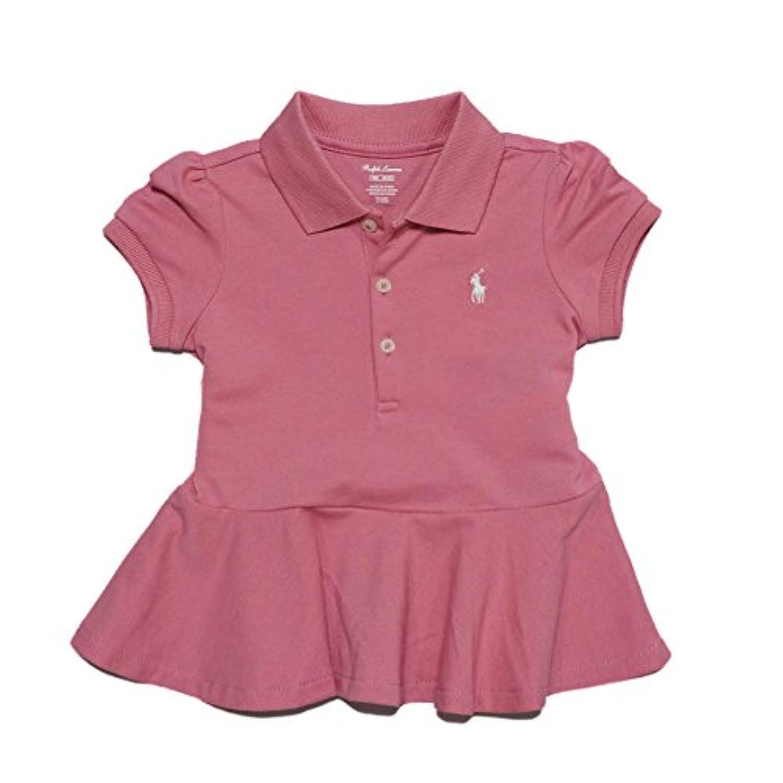 (ポロ ラルフローレン) POLO RALPH LAUREN ベビー 女の子 ポロシャツ Cotton Mesh Polo Shirt ピンク Rugby Pink (6M) [並行輸入品]