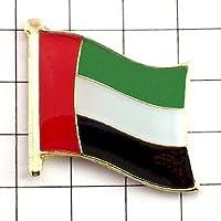 ピンバッジ はためく アラブ首長国連邦 デラックス薄型留め金付き ピンズ