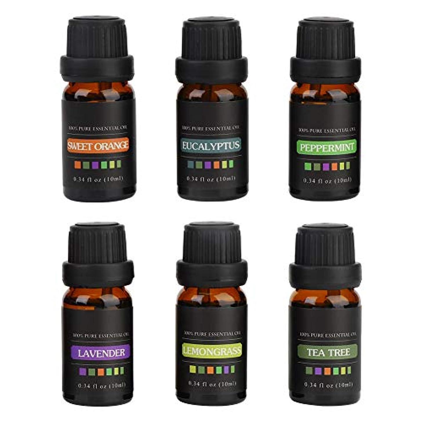 エッセンシャルオイル - 6ボトルギフトSet10MLナチュラル香り高い入浴シャワーマッサージ血清リラックス