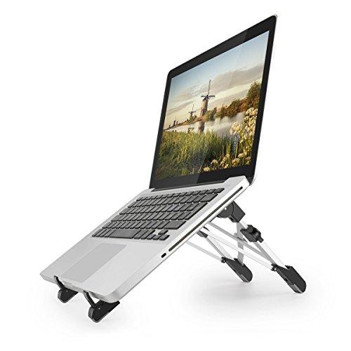 ノートパソコン スタンド 折り畳み式 PCスタンド Niwawa ノート PCホルダー 高さ・角度調整可能 軽量 アルミ合金 PC/MacBook/ラップトップ/iPad/タブレットなど対応 (ブラック)