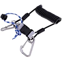 Perfeclan Professional Stainless Steel Scuba Diving Spring Coil Lanyard with Snap