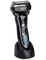 電気かみそり4ブレード往復かみそりオリジナルひげ剃り機液晶ディスプレイ防水ウェットドライシェーバーD42用男性