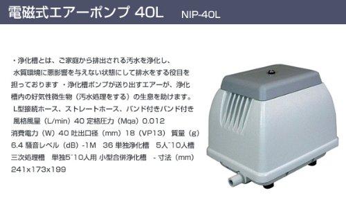 日本電興(NIHON DENKO) 電磁式エアーポンプ 40L NIP-40L ホワイト