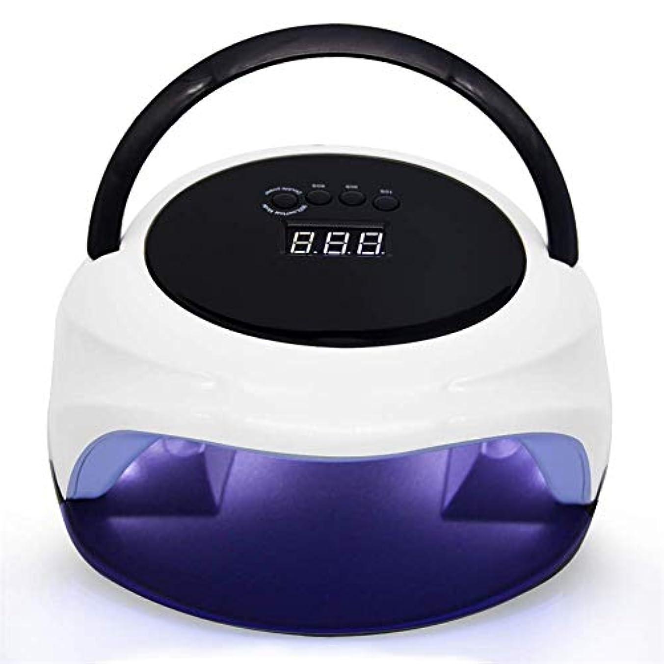 LED UVネイルランプデュアルモードネイルドライヤー用ジェル/CND Shellacネイルランプハンドルと取り外し可能な底板