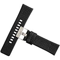 Premium Genuine Calfskin Leather Wristwatch Watch Band Replacement Watch Strap with Stainless Steel Clasp